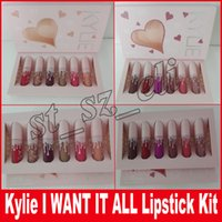 Wholesale Mini Cupcakes Wholesale - Kylieturns20 20th Birthday Collection I Want It All Kylie Jenner Matte Minis Liquid Lipstick 6PCS SET CUPCAKE CHERRY PIE ULTRA GLOWS