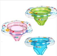 Wholesale Inflatable Toddler Swimming Pools - 2017 Pants Style Baby Inflatable Float Boat Fish Print Swimming Pool Accessories Children Swim Ring Circle Toddler Floating Seat
