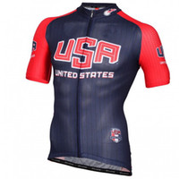 Wholesale Team Cycling Jerseys Usa - 2016 USA National TEAM Short Sleeve Cycling Jersey Bicycle Wear Size XS-4XL A003