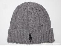 Hot men POLO beanies small horse embroidery knitted autumn winter warm hats  men women couple outdoor skull cap gorro hight quality 437fabdaeda9