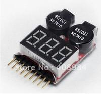 тестер напряжения аккумулятора оптовых-высокое качество Lipo индикатор напряжения батареи вольтметр монитор зуммер сигнализации тестер напряжения батареи
