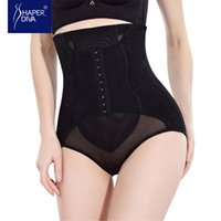 Wholesale Triple Hook Wholesale - Wholesale- Shaper diva Women Embroidery Steel Bones Shaper High Waist Shaper Tummy Control Shaperwear With Triple hook and eye Butt Lifter