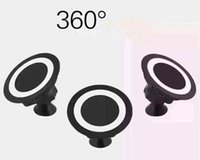 Wholesale Iphone Charger Mount Dock - 360 Degree Rotating Wireless Charger Pad Car Qi Wireless Dock Magnetic Mount Holder For Samsung S6 S7 Edge iPhone 6 5