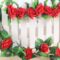 Flor Flor artificial Fake Rose Simulation Green Vine Wedding Home Decor Multi Color Rattan Wall Hanging 3 35st A R