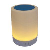 drahtlose nachttischlampe großhandel-Mini Tragbare Wireless Bluetooth Lautsprecher Handfree Smart Sensor Emotion Lampe LED Nachttischlampe Dimmer Farbe Umgebungsbeleuchtung Lampe