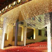 Wholesale Sale Angels Decoration - Hot Sale Curtain String Lights Garden Lamps New Year Christmas Icicle LED Lights Xmas Wedding Party Decorations 1000LEDs 10M*3M