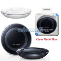 Wholesale Charging Plate - 1:1 Version 2.0 S6 Qi Wireless Charging Pad Charger Charge Plate For Samsung S6 Edge  S7  S7 edge  Note 5