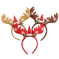 Cappelli di natale Fasce infantili Ragazze Reindeer Antlers Tappetini di capelli del turbante Props Props Kids Hair Bands