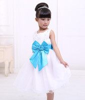 Wholesale Christmas Bows For Sale Cheap - Cheap Flower Girls Dresses for Weddings Chiffon White and Purple Many Layers Floor length Kids Evening Gowns Flowergirl Dresses For Sales