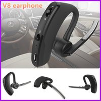 Wholesale S9 Headphones - In ear Bluetooth Headset Voyager Legend V8 Bluetooth 4.0 Earphone Headphone For Iphone Samsung LG HTC VS S9