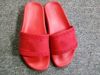 Wholesale Mens Sandals Free Shipping - (Dust Bags+ Box)Free shipping mystic medusa slide Sandals Scuffs Mens Leather Rubber Massage slipper size 38-45