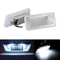 audi a4 b6 led lumières achat en gros de-2x Sans Erreur 18SMD LED Plaque D'immatriculation Lampe De Voiture Ampoules Numéro Plaque Lampe pour Audi A3 S3 8 P B6 B7 A8 / S8 8E 8 H RS4 Q7