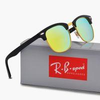 Wholesale red reflective lens sunglasses resale online - New Brand designer Polarized Sunglasses Reflective Sport UV Protection polaroid lens Fashion Designer Vintage Sun glasses with case and box