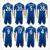 Customized 16-17 20 OKAZAKI Soccer Jersey Sets, discount pas cher Outdoor 28 FUCHS Football Porter des uniformes, 4 Drinkwater Football Maillots KITS Porter