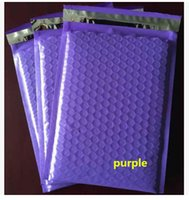 Wholesale Poly Mailer Padded - 18.5x23+4cm 50pcs Plastic poly bubble Mailer padded mailing bags  Purple color shockproof courier pouchs
