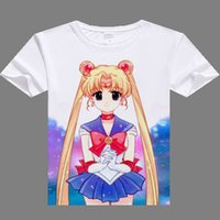 camiseta mulher marinheiro venda por atacado-Atacado-2016 mulheres casuais camiseta Sailor Moon digital impresso hot anime Sailor Moon camiseta roupas Sailor Moon t-shirt