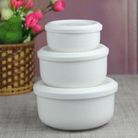 Wholesale Ceramic Bowl Microwave - New Arrival Bone China Bento Ceramic 4 | 5 | 6 inch refrigerator microwave bowl bone china porcelain bowl of fresh three-piece cover