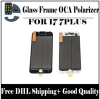 4.7 capacitive NZ - 4 in 1 Cold Press Front Screen Outer Glass with Frame OCA+Polarizer For iPhone 7 7plus 8 8plus 5.5 inch Screen Replacement Free DHL shipping