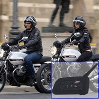 Hot Bicycle Radio V6 BT Multi Interphone Bluetooth Intercom Auto Motorrad Wireless Kopfhörer Zubehör 1200M Helm Headset 6 Reiter