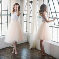 Wholesale Cheap Tutu Skirts For Adults - Custom Made Short Knee Length Tutu Skirt For Adult Pale Pink Tulle Plus Size Puffy Women Bridesmaid Dress Underwear Free Shipping Cheap