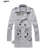 Wholesale stylish coats for winter for sale - New Men s Stylish Double Breasted Long Trench Coat Men Overcoat Winter Long Jacket For Men Plus