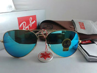 Wholesale Hinged Glass Box - 2017 retail brand Ray 3025 photochromic bans lenses men women glasses sunglasses metal frame hinge sunglasses + case boxes certificate