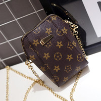 Wholesale Pocket Chains For Sale - Hot Sale Crossbody Bags For Women PU Leather Luxury Handbags Designer Phone Bag Retro Floral Shoulder Print Pattern Chain Clutch Women Bag