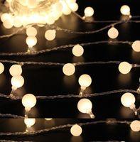 yılbaşı topu çelenk toptan satış-2 M 20 LED topu Pil Işletilen LED Dize Işıklar Noel Garland Parti Düğün Dekorasyon için Noel Flaşör Peri Işıkları