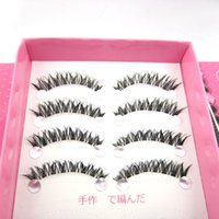 Wholesale Clear Eyelash Band - HOT SALE HS-20(10 boxes) 10 Pairs box NATURAL CROSS HANDMADE FASHION WINGED CLEAR BAND False Eyelashes BEAUTY soft eye lashes