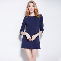 2016 Brand Summer and Autumn Europe and Americal Women Pajamas 100% Cotton  Leisure Slim Women s Lounge Outer Wearing Dress e844a3ad5