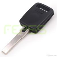 chips audi a4 al por mayor-Reemplazo Clave Chip Transpondedor Del Coche para Audi A2 A3 A4 A4L A6 A6L A8 Cabrio RS6 S3 S4 S6 S8 TT Q3 auto entry shell llavero fobs