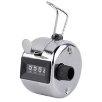 tally zähler ziffer nummer clicker golf großhandel-Freies Verschiffen 480pc / lot Metalic 4 Stellen-Zahl Clicker-Handzähler für Golf