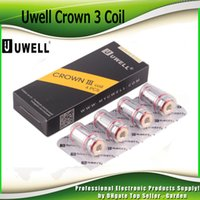 Wholesale head crowns - Authentic Uwell Crown 3 Crown III Mini Coil 0.25ohm 0.4ohm 0.5ohm Replacement SUS316 Parallel Coils Head For Crown III Tank 100% Genuine
