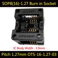 Wholesale Programmer Ic Adapters - SOP8 150mil Pitch 1.27mm Burn in Socket IC Test Socket OTS-16-1.27-03 Programmer Adapter