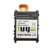 ingrosso sostituzione z1-3300mAh LIS1525ERPC Batteria di ricambio per L39H L39T L39U C6902 C6903 Z1 C6916 C6943 Batterie per telefoni Batteria Batterie Batterie