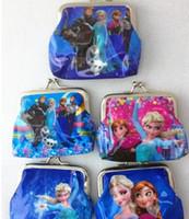 Wholesale Gift Cards Cheap - Cheap Frozen Designs Cartoon PVC Waterproof Coin Purse Key Holder Small Frozen Wallet Pocket Kids Gift Free Shipping HJ2