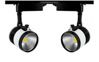 decoración de la tienda de ropa al por mayor-30W COB Iluminación de carril LED Luces de techo Lampada 110V 220V para tienda de ropa Zapatos de supermercado Tienda Showroom Galería Decoración CE