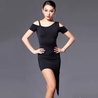 Wholesale Plus Size Latin Dresses - 2016 Latin Dance Costumes For Women Cha Cha Rumba Samba Tango Dance Skirt Sexy Plus Size Club Dresses Salsa Performance Dresses