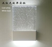 Wholesale Hotel Bathroom Fixtures - K9 bulb Crystal Wall Lamp Free ship modern Square Sconce lighting Hotel Bedroom bathroom mirror liamp Stairs Home Indoor Decoration Fixtures