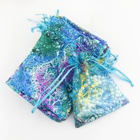 Wholesale Organza Bags 12x9cm - Jewelry Gift Packaging Display Bag New 200Pcs 12X9cm Coralline Organza Jewelry Pouch Wedding Christmas Party Favor Gift Bag Hot