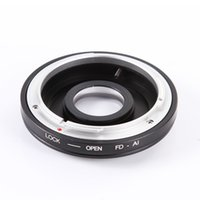 Wholesale Camera Adapter Lens - Adapter Ring f Canon FD FC Lens to Nikon AI F Mount Camera w  Optical Glass+Caps