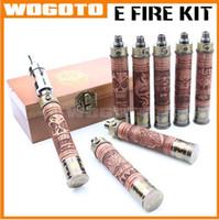 e yangın ahşabı toptan satış-X-Fire E Çiğ E Yangın Buharlaştırıcı Kalem Değişken Gerilim Cam Tankı E-Yangın X-Yangın Protank 2 Atomizer ile Ahşap Pil Kiti E-Yangın Ahşap Buharlaştırıcı