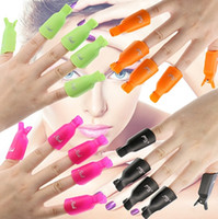 Wholesale Varnish Remover - 2017 Plastic Nail Art Soak Off Cap Clip UV Gel Polish Remover Wrap Tool Fluid for Removal of Varnish Nail Cleaner Remover