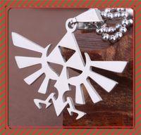Wholesale legend zelda jewelry - 2016 stainless steel Legend Of Zelda necklace Triforce of the Gods pendants for women men gifr fashion jewelry 161194