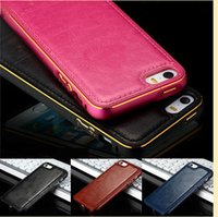 Wholesale Aircraft Fittings - 2017 Luxury Aircraft Aluminum+Leather Phone Case Cover Skin for iphone 7 iPhone 6s iPhone 6 7 Plus