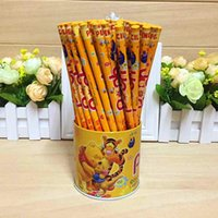Wholesale Gift Winnie Pooh - Popular Cartoon Winnie the pooh Wood pencil,cartoon pen 144pcs lot Gift Christmas student for school