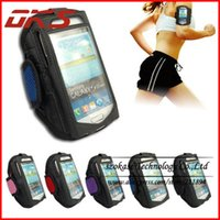 Wholesale Mesh Galaxy S4 Case - Wholesale-Mix Color Mesh Sport Jogging Armband Case Pouch Cover For Samsung Galaxy S4 i9500