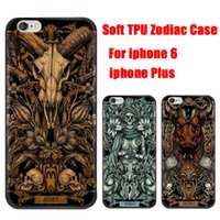 Wholesale Iphone Signs - For iphone7 7plus Zodiac Signs Phone Case Soft TPU Gel Back Cover Painted Cases For Iphone 6 DHL Free SCA150