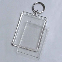 Wholesale square acrylic keychains for sale - Group buy Blank Acrylic Rectangle Keychains Photo Key Chains For Photo Size quot x quot KP01C DHL