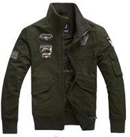 erkekler için siyah askeri ceketler toptan satış-Moda erkek Giysileri Erkek Askeri Taktik Erkek Ceket Ordu Yeşil Haki Siyah Pamuk-yastıklı Askeri Ceket Askeri Ceket 4XL